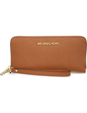 MICHAEL MICHAEL KORS Jet Set Travel leather wallet