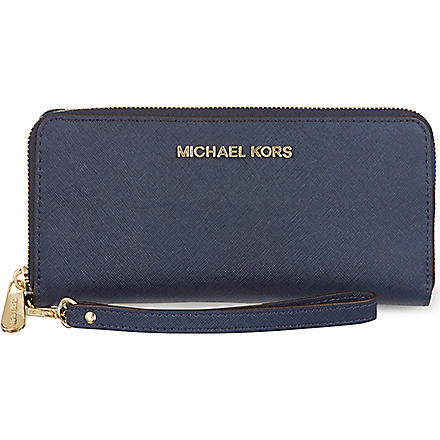 MICHAEL MICHAEL KORS Jet Set travel wallet (Navy