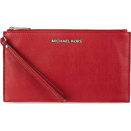 MICHAEL MICHAEL KORS Bedford large zip clutch (Scarlet