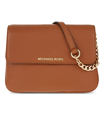 MICHAEL MICHAEL KORS Bedford leather cross-body bag (Luggage