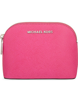 MICHAEL MICHAEL KORS Cindy Saffiano leather travel pouch