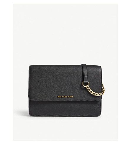 MICHAEL MICHAEL KORS Daniela leather cross-body bag (Black