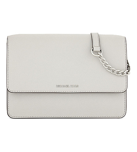 MICHAEL MICHAEL KORS Daniela leather cross-body bag (Aluminum