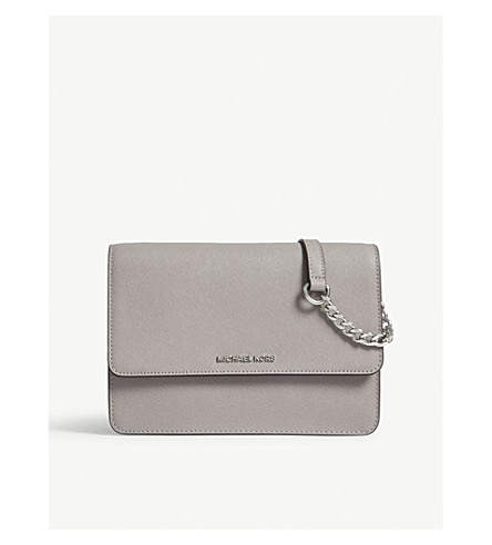 MICHAEL MICHAEL KORS Daniela leather cross-body bag (Pearl+grey