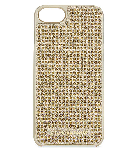 MICHAEL MICHAEL KORS Crystals & glitter iPhone 7 case (Gold