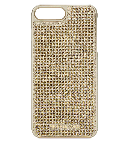 MICHAEL MICHAEL KORS Crystals & glitter iPhone 7 Plus case (Gold