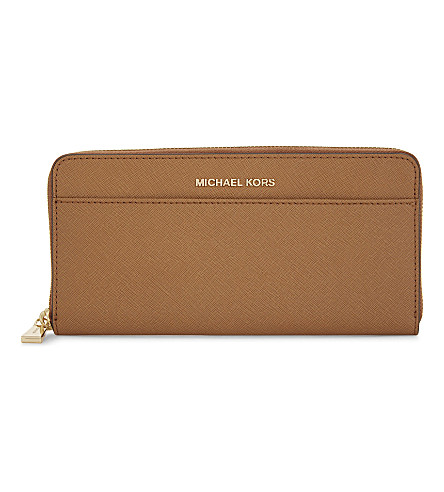 MICHAEL MICHAEL KORS Money Pieces Saffiano leather continental wallet (Acorn