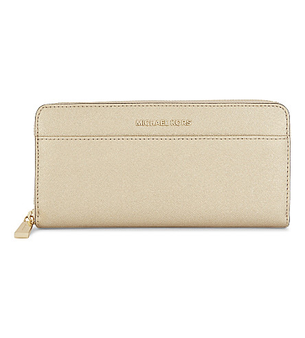 Mercer Continental metallic leather wallet