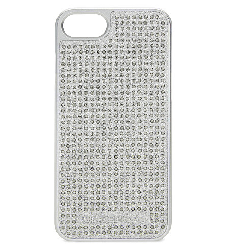 MICHAEL MICHAEL KORS Crystals & glitter iPhone 7 case (Silver