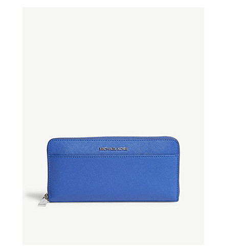 MICHAEL MICHAEL KORS Money Pieces Saffiano leather continental wallet (Elctric+blue