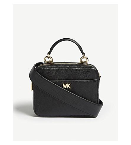 MICHAEL MICHAEL KORS Mini pebbled leather cross-body bag (Black