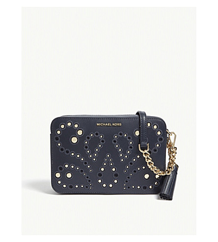 d2430cde40e ... MICHAEL MICHAEL KORS Embellished leather cross-body bag (Admiral.  PreviousNext