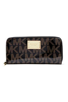 MICHAEL KORS Jet Set logo continental wallet