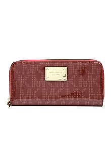MICHAEL KORS Jet Set patent leather wallet