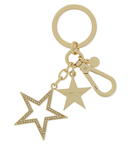 MICHAEL MICHAEL KORS Pavé star key charm (Gold