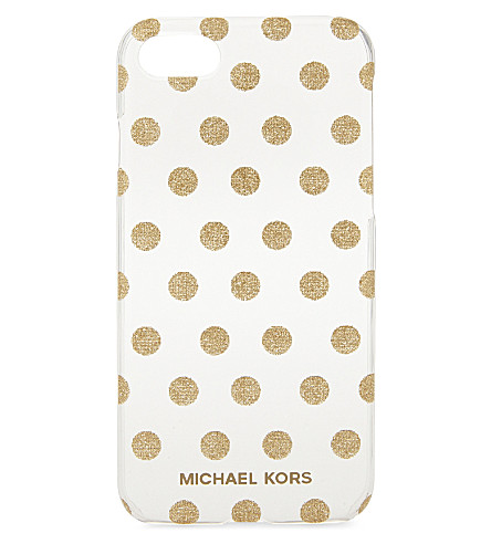 MICHAEL MICHAEL KORS Glitter polka dot iPhone 7 case (Gold