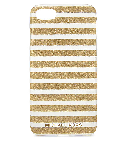 MICHAEL MICHAEL KORS Glitter stripes iPhone 7 case (Gold