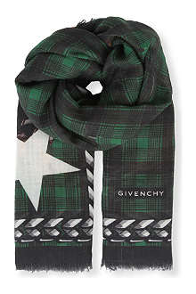 GIVENCHY Dobermann wool scarf
