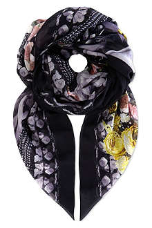 GIVENCHY Mermaid rose cotton scarf