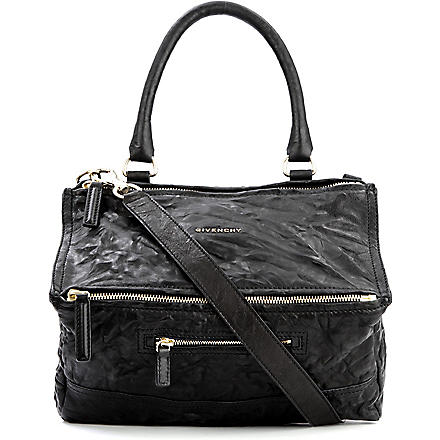 GIVENCHY Pandora medium washed leather across–body bag (Black