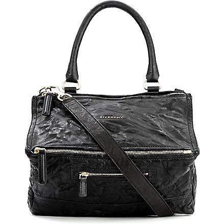 GIVENCHY Pandora medium washed leather across–body bag (Black