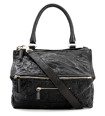 GIVENCHY Pandora medium leather shoulder bag (Black