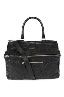 GIVENCHY Pandora large washed leather satchel