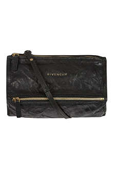 GIVENCHY Pandora mini washed leather across–body bag