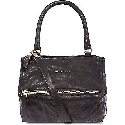 GIVENCHY Pandora small washed leather satchel (Black