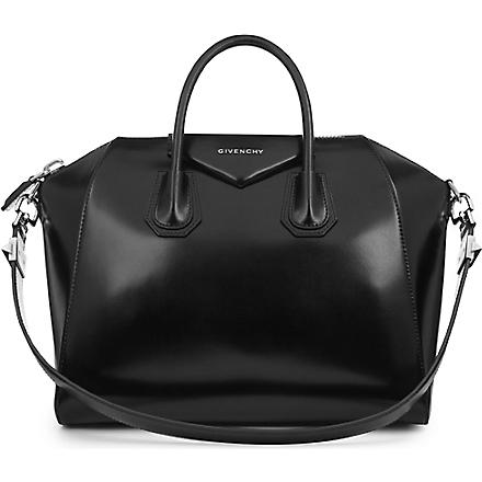 GIVENCHY Antigona medium smooth leather tote (Black