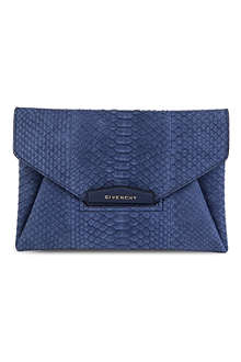 GIVENCHY Antigona python envelope clutch