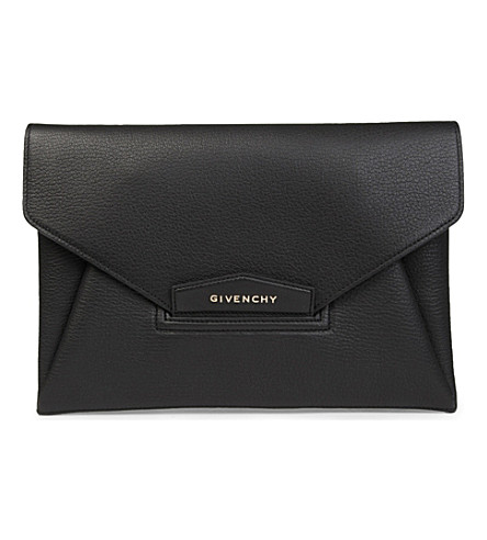 GIVENCHY Antigona envelope clutch (Black