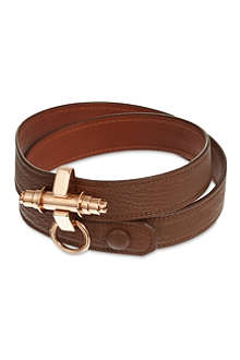 GIVENCHY Obsedia triple-wrap leather bracelet