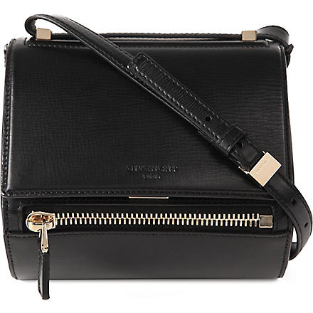 GIVENCHY Pandora leather box mini satchel (Black