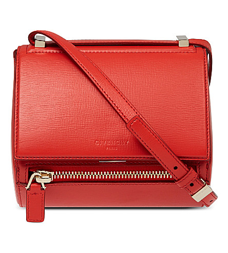 GIVENCHY Pandora mini leather shoulder bag (Medium+red
