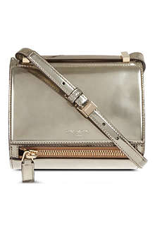 GIVENCHY Pandora's Box metallic mini cross-body bag