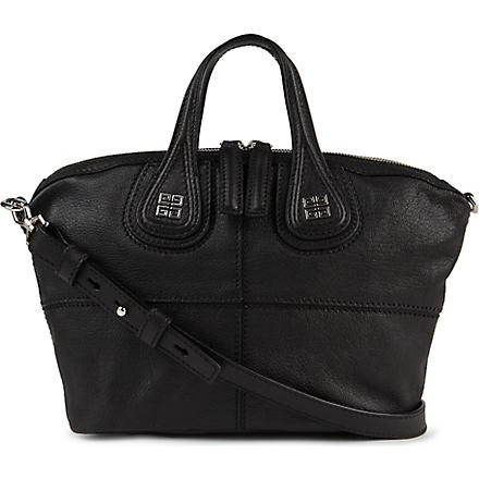 GIVENCHY Nightingale mini grainy leather shoulder bag (Black