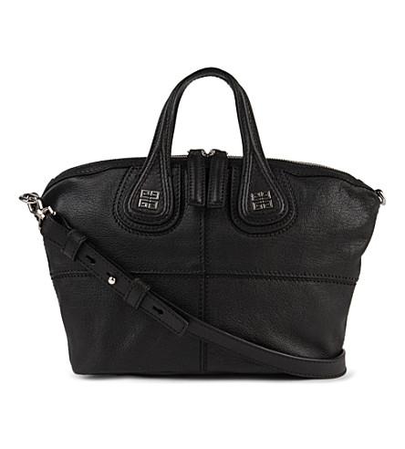 GIVENCHY Nightingale mini grainy leather shoulder bag (Black