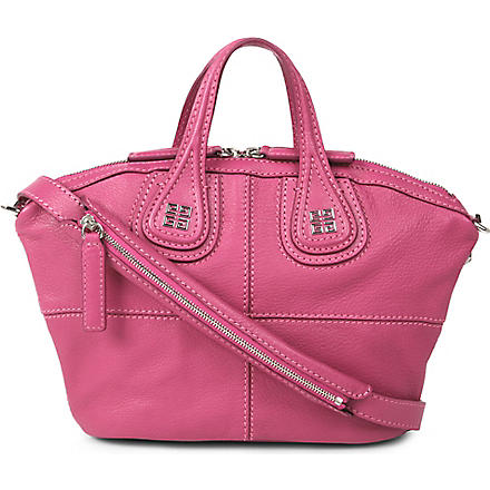 GIVENCHY Nightingale mini grainy leather shoulder bag (Fushia