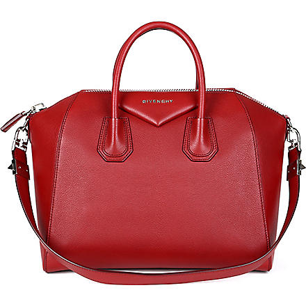 GIVENCHY Antigona medium grainy leather tote (Wine