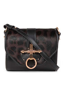 GIVENCHY Obsedia leather and ponyskin cross-body bag