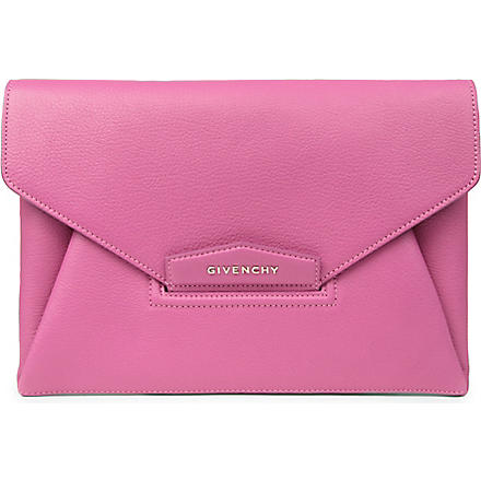 GIVENCHY Antigona envelope clutch (Fushia