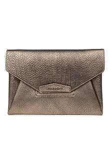 GIVENCHY Antigona grainy leather envelope clutch