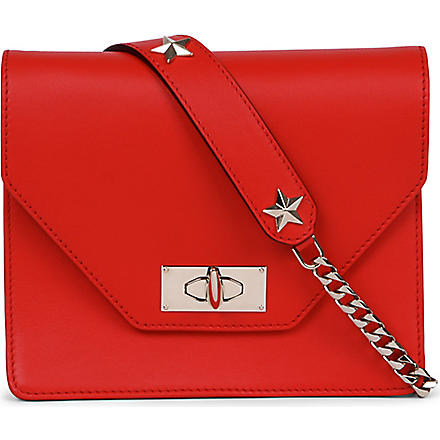 GIVENCHY Shark leather clutch (Red