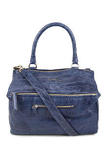 GIVENCHY Pandora medium washed leather satchel