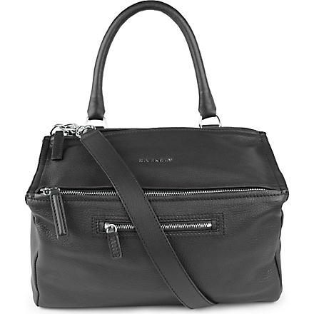 GIVENCHY Pandora medium grainy leather satchel (Black