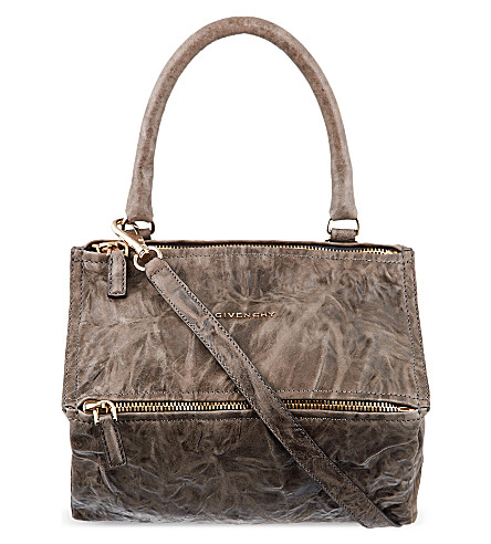 GIVENCHY Pandora small washed leather satchel (Charcoal