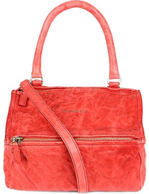 GIVENCHY Pandora small washed leather satchel
