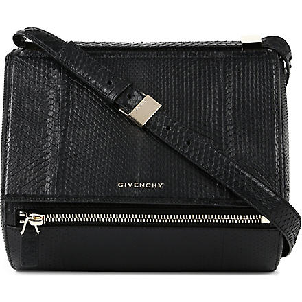 GIVENCHY Pandora python-embossed box bag (Black