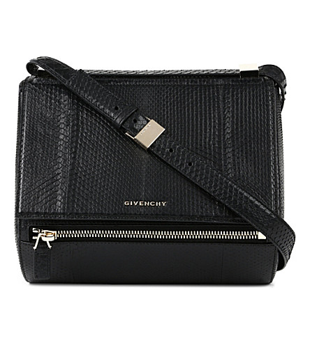 GIVENCHY Pandora python-embossed box bag (Black